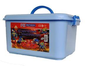 3D магнитный конструктор МАГНІКОН 170 деталей Plastic box