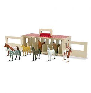 Переносная конюшня с лошадками Melissa & Doug, MD13744