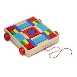Набор деревянных блоков на тележке Melissa & Doug MD14209