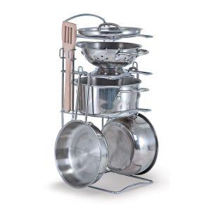 Игровой набор посуды из нержавеющей стали Melissa & Doug MD14265