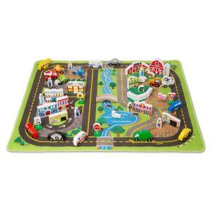 МЕГА набор Дорожный коврик и деревянные игрушки Melissa & Doug MD5195