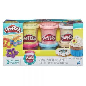 Play-Doh Набор из 6 баночек с конфетти Hasbro