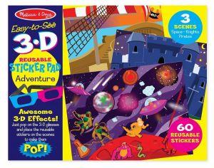 """Многоразовые 3D наклейки с очками """"Приключения"""" Melissa & Doug"""
