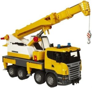 Bruder автокран SCANIA R-series Liebherr (свет+звук), М1:16