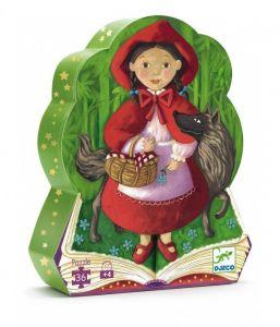 Пазл DJECO Красная шапочка, 36 элементов