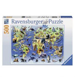 Пазл Ravensburger - Редкие виды животных, 500 элементов