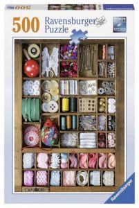 Пазл Ravensburger - Швейная коробка, 500 элементов