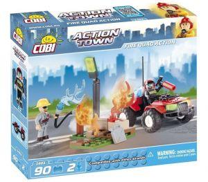 Конструктор COBI 'Пожарный квадроцикл' Action Town, 90 деталей