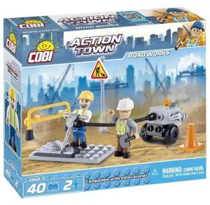 Конструктор COBI 'Дорожные работы' Action Town, 40 деталей
