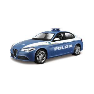 Автомодель ALFA ROMEO GIULIA POLIZIA синий, 1:24 Bburago