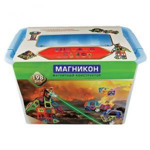 Магнитный конструктор 3-D МАГНИКОН 198 деталей