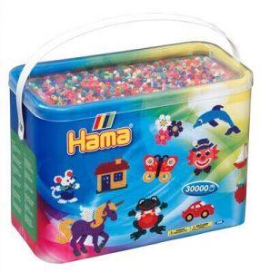 Термомозаика HAMA Набор цветных бусин 30.000 шт. 50 цветов MIDI 5+