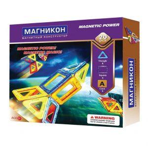 Магнитный конструктор 3-D МАГНИКОН 20 деталей