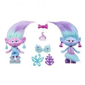Игровой набор Модные Тролли близнецы