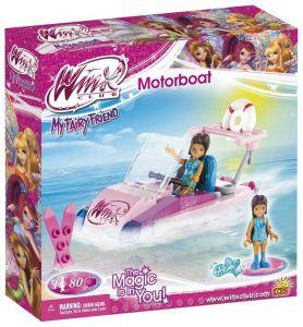 Конструктор COBI 'Моторная лодка' Winx Club, 80 деталей