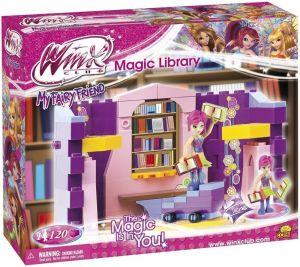 Конструктор COBI 'Волшебная библиотека' Winx Club, 120 деталей