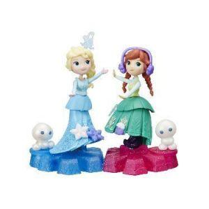 Маленькая кукла Холодное Сердце на движущейся платформе-снежинке