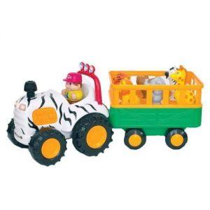 Развивающая игрушка машинка САФАРИ-ДЖИП на колесах, свет, звук