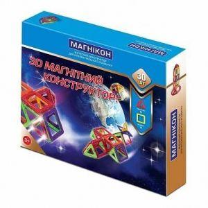 Магнитный конструктор 3-D МАГНИКОН 30 деталей