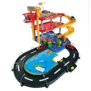 Игровой набор Bburago - ГАРАЖ (3 уровня, 2 машинки 1:43)