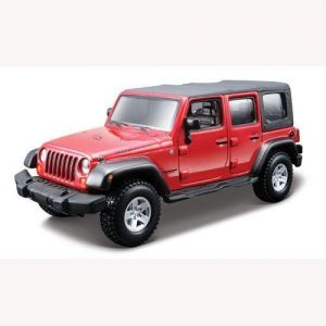 Авто-конструктор JEEP WRANGLER UNLIMITED RUBICON (красный, 1:32) Bburago