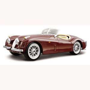 Авто-конструктор JAGUAR XK 120 ROADSTER (1948) (вишневый, 1:24) Bburago
