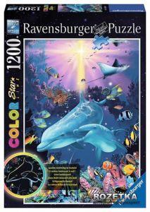 Светящийся Пазл Ravensburger - Очаровательные дельфины