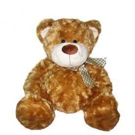 Мягкая игрушка МЕДВЕДЬ (коричневый, с бантом) 40 см