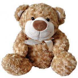 Мягкая игрушка - МЕДВЕДЬ (коричневый, с бантом) 48 см