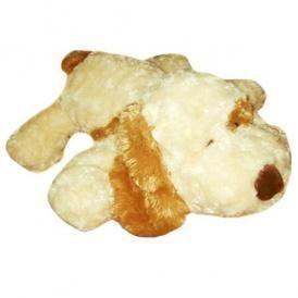 Мягкая игрушка СОБАКА (белая, рыжее ухо) 48 см