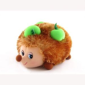 Мягкая игрушка ЕЖИК С ЯБЛОКАМИ (муз., 17 см)