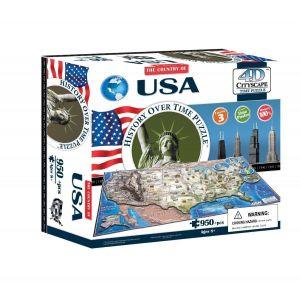 Объемный пазл Соединённые Штаты Америки 4D Cityscape