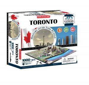Пазл 3D Торонто, Канада, 4D Cityscape