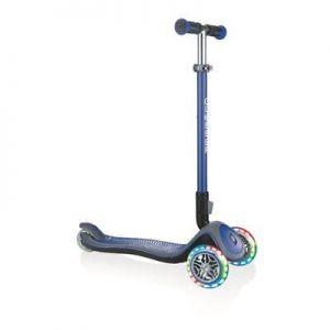 Самокат GLOBBER серии ELITE DELUXE синий колеса с подсветкой до 50кг 3+ 3 колеса