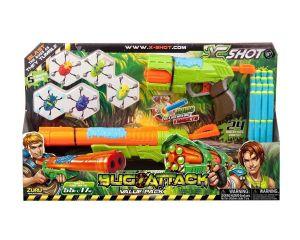 Набор бластеров X-Shot Огонь по жукам (2 вида оружия, 5 жуков, 24 дротика)