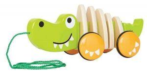 Игрушка каталка HAPE Длинный Крокодил