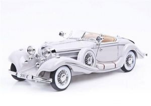 Автомодель (1:18) Mercedes-Benz 500 K Typ Specialroadster (1936) Macharadga белый