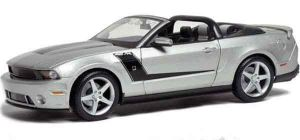 Автомодель MAISTO 2010 Roush 427 Ford Mustang Convertible, серебристый (1:18)