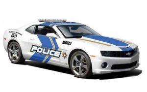 Автомодель (1:24) 2010 Chevrolet Camaro SS RS Police белый