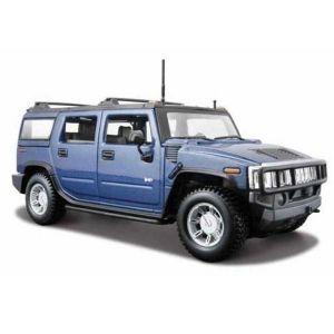 Автомодель Hummer H2 SUV 2003 синий (1:27)