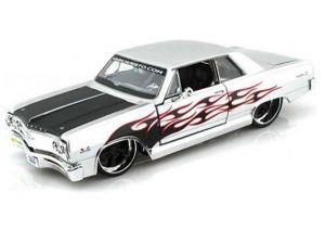 "Автомодель 1965 Chevrolet Malibu SS серебристый М1:24 - Серия ""AllStars"" - тюнинг MAISTO"