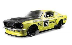 """Автомодель 1967 Ford Mustang GT жёлтый М1:24 - Серия """"AllStars"""" - тюнинг MAISTO"""