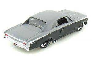 "Автомодель 1966 Chevrolet Chevelle SS 396 чёрно-серый металлик М1:24 - Серия ""AllStars"" - тюнинг MAISTO"