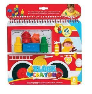 WOOKY Набор-раскраска «Пожарная машина» с восковыми мелками BLOCK CRAYON