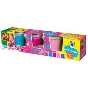 Пальчиковые краски Ses - МАЛЕНЬКИЙ ХУДОЖНИК (4 цвета, в пластиковых баночках)