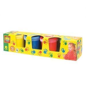 Пальчиковые краски Ses - МОИ ПЕРВЫЕ РИСУНКИ (4 цвета, в пластиковых баночках)