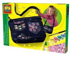 Набор для изготовления сумочки Ses - МОДНЫЙ ТРЕНД (сумочка, украшения, кисточка, краски, клей)
