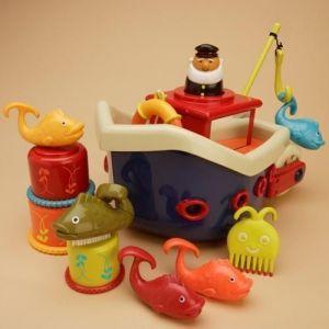 Игровой набор Battat - ЛОВИСЬ, РЫБКА (для игры в ванной,12 аксессуаров)