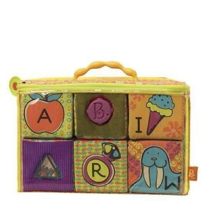 Мягкие кубики-сортеры ABC Battat