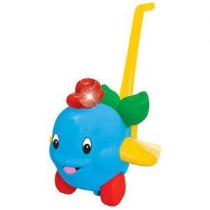 Игрушка-каталка ДЕЛЬФИН (свет, звук, ассорти голубой, розовый) Kiddieland